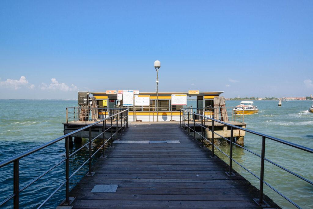 Anlegestelle in Venedig