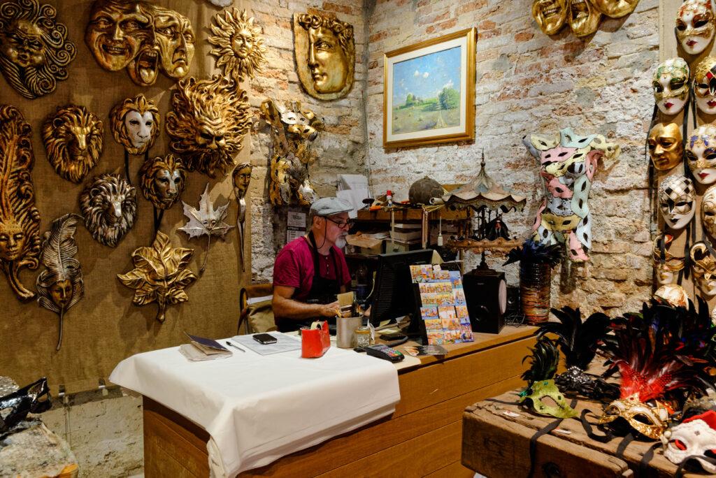 Maskengeschäft in Venedig