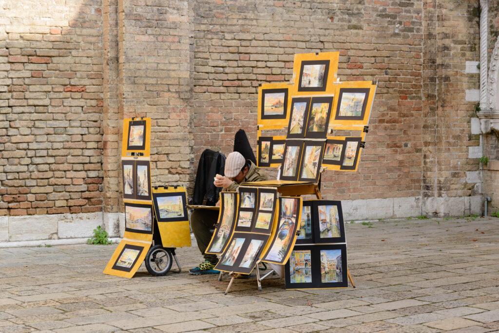 Straßenverkäufer, Venedig