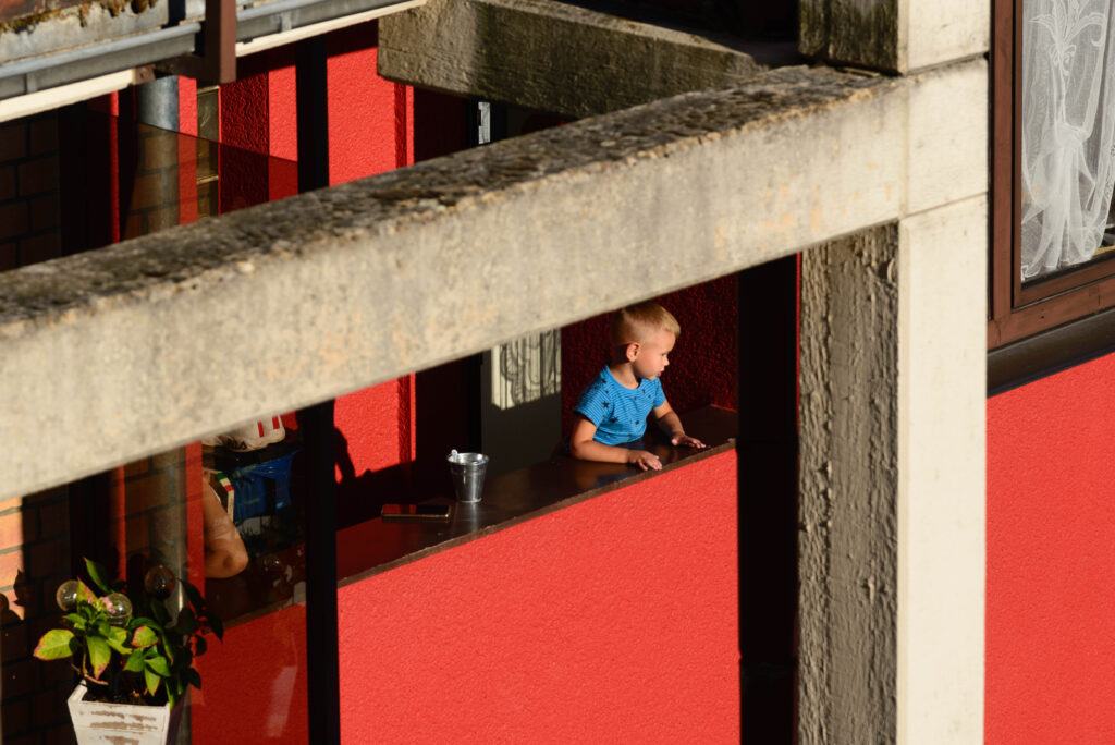 Auf dem Balkon